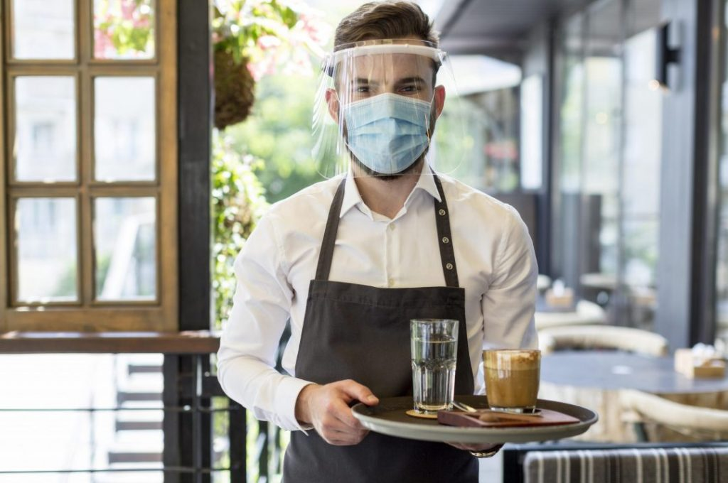 male-waiter-with-mask